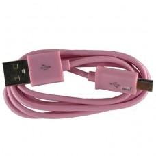 Micro USB oplaad kabel roze (licht) | 1 METER kabeltje