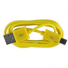 Micro USB oplaad kabel geel | 1 METER kabeltje