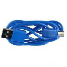 Micro USB oplaad kabel blauw (licht) | 1 METER kabeltje