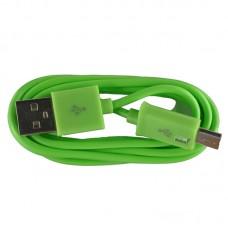 Micro USB oplaad kabel groen | 3 METER kabeltje