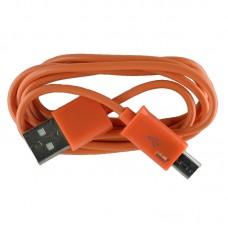 Micro USB oplaad kabel oranje | 1 METER kabeltje